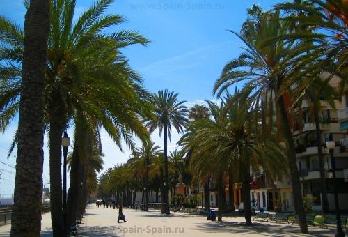 Улица Рамбла в Бадалоне