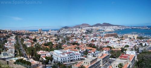 Красивый вид на город Лас-Пальмас-де-Гран-Канария