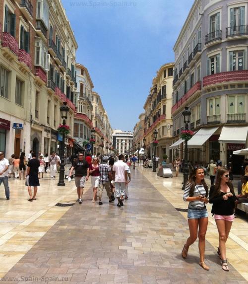 Улица Лариос в Малаге