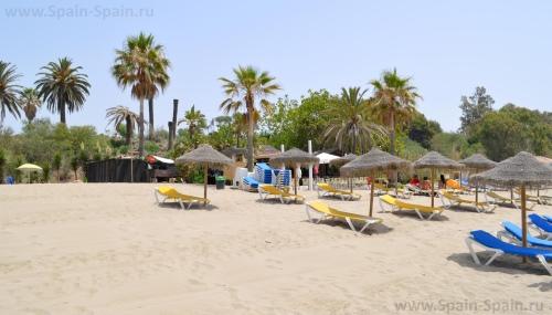 Пляж Баунти в Марбелье