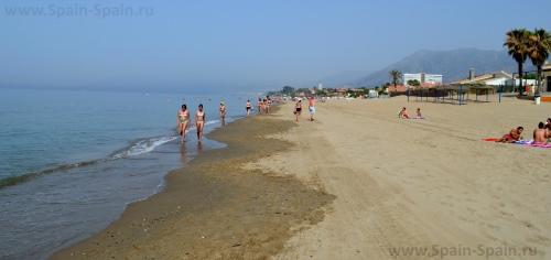 Пляж Хермоса в Марбелье