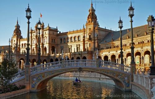 Красивый вид на город Севилья