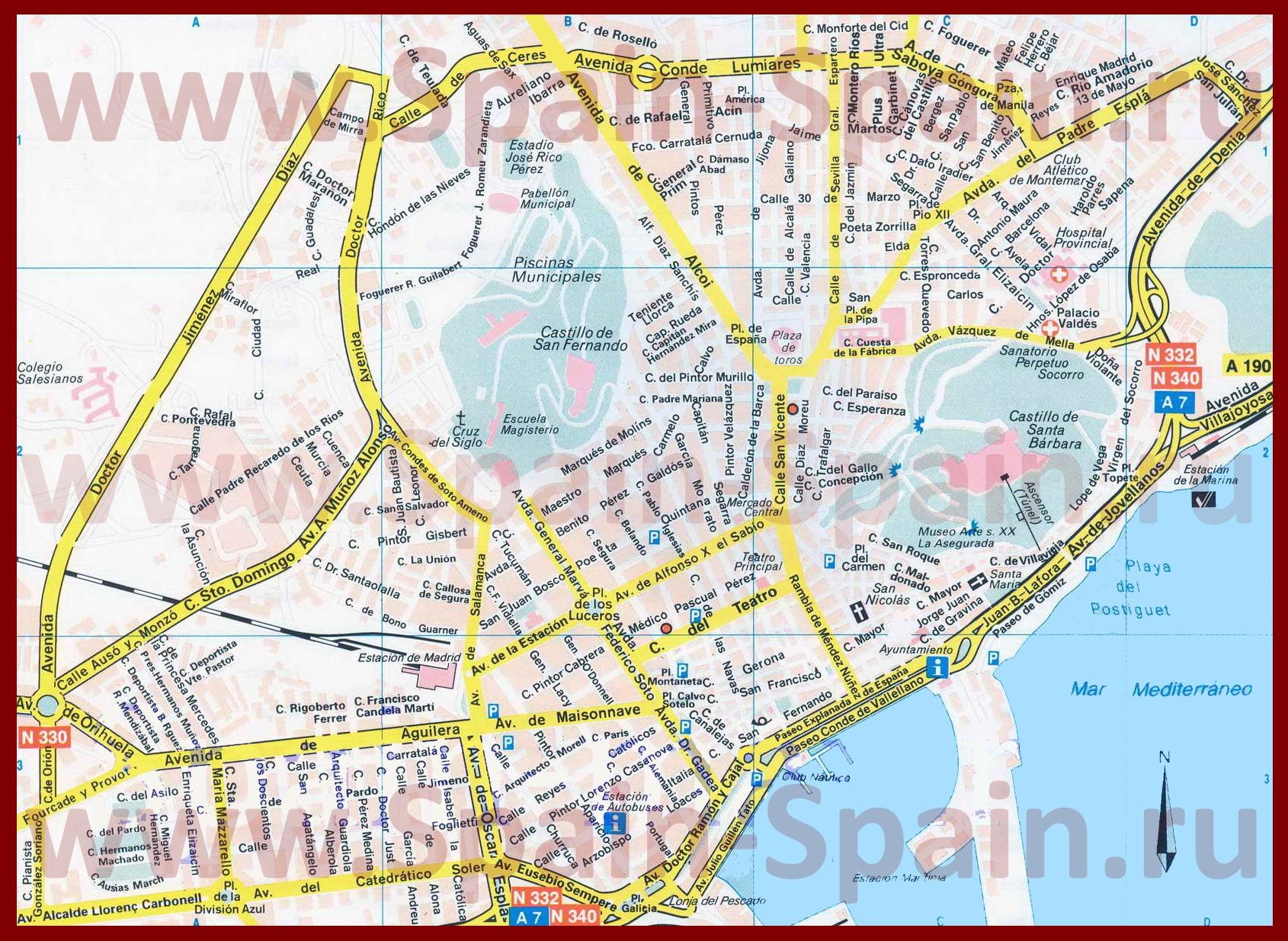 Аликанте карта в гугле