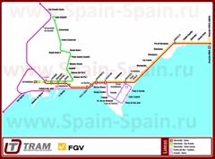 Карта метро Аликанте