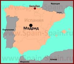 Бильбао на карте Испании