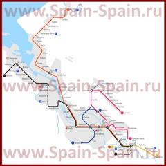 Схема метро Бильбао
