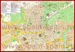 Туристическая карта Гранады с отелями и достопримечательностями