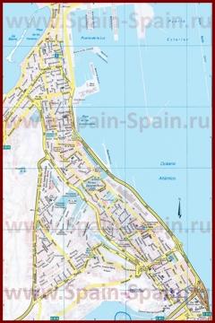 Подробная карта города Лас-Пальмас-де-Гран-Канария