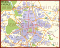Карта Мадрида на русском языке