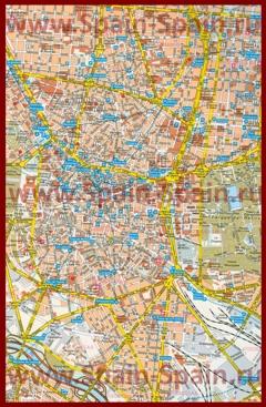 Карта Мадрида с отелями и парковками