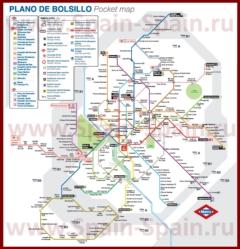 Карта-схема метро Мадрида