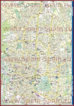 Подробная карта города Мадрид с улицами