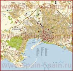 Подробная карта Пальма-де-Майорки с улицами