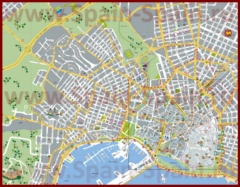 Туристическая карта города Пальма-де-Майорка