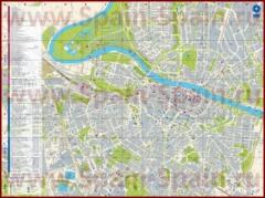 Подробная туристическая карта города Сарагоса с отелями и достопримечательностями