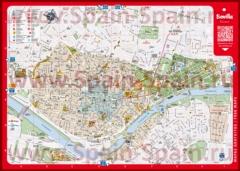 Подробная карта города Севилья с достопримечательностями