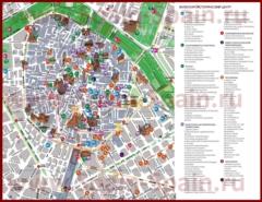 Карта Валенсии на русском языке с отелями и достопримечательностями