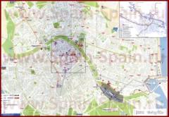 Подробная карта города Валенсия с отелями