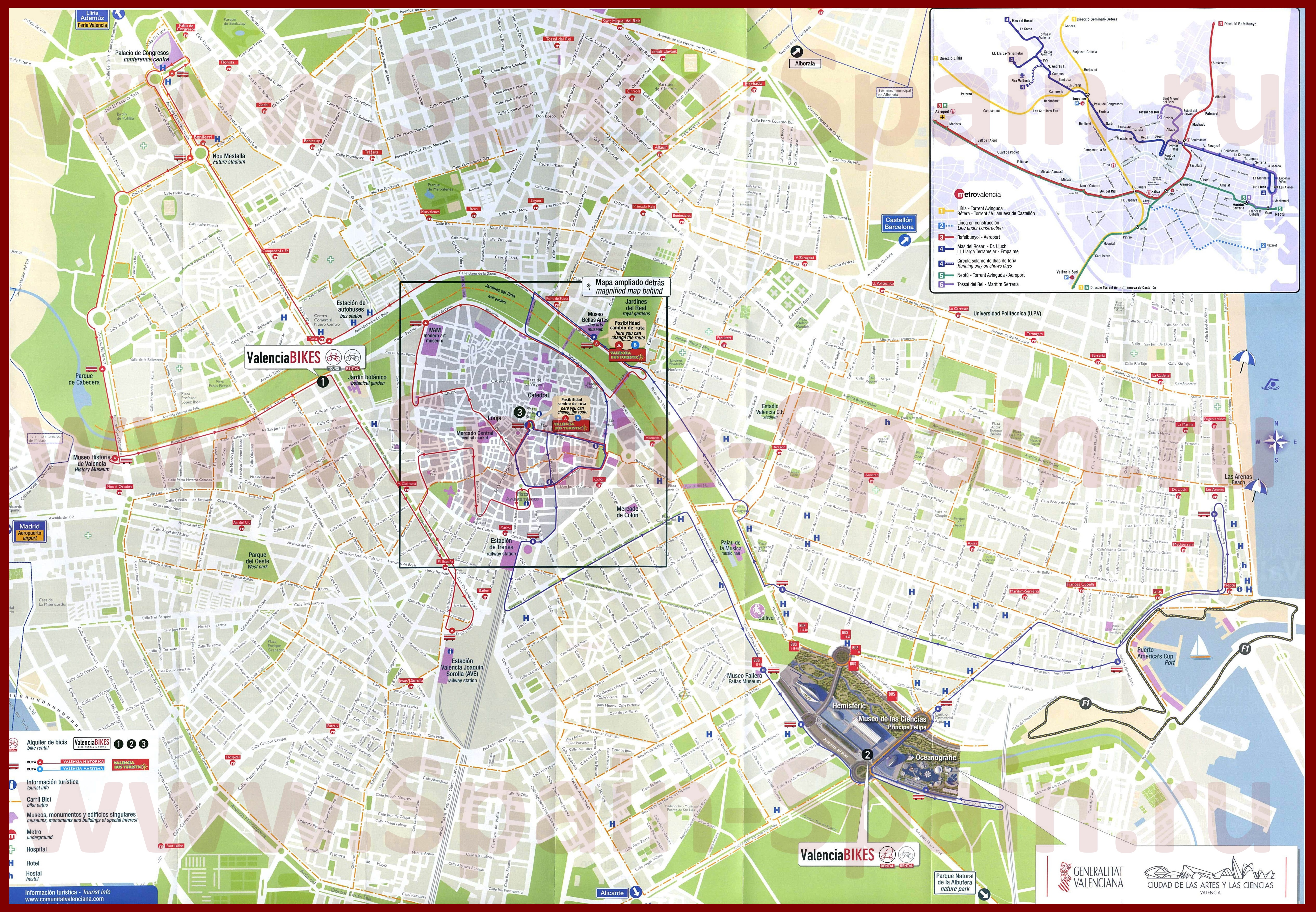 Подробная Карта Барселоны На Русском