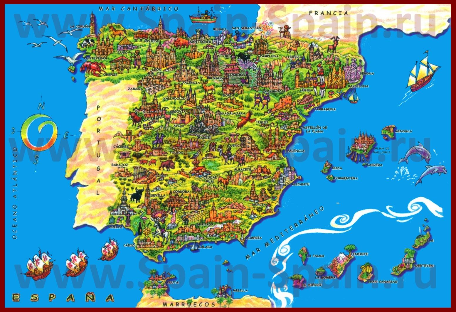 Подробная Карта Валенсии - galvanicworld Валенсия Испания Карта